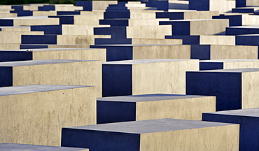 Steles at the Memorial to the Murdered Jews of Europe in Berlin, Germany, Europe