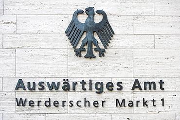 Auswaertiges Amt, Foreign Office, Werderscher Markt 1, Berlin, Germany, Europe