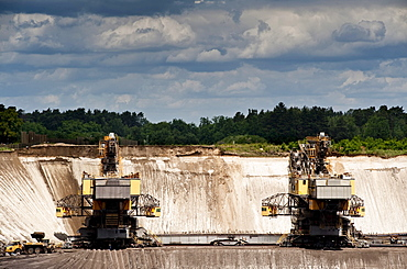 Lignite strip mining Cottbus Nord, Lausitz, Brandenburg, Germany, Europe