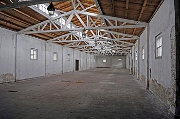 Work barracks at the women's concentration camp Ravensbrueck, Brandenburg, Germany, Europe