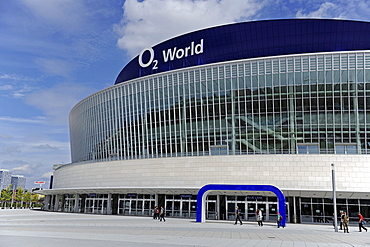 Partial view of the new multi-purpose hall for up to 17, 000 spectators in Berlin, Germany, Europe
