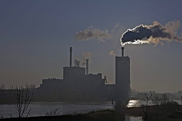 Hastedt coal-fired power plant, gas-fired power plant, district heating production, Bremen, Germany, Europe
