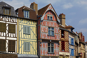 Row of houses, Auxerre, Bourgogne, France, Europe