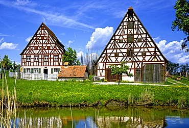 Fraenkisches Freilandmuseum outdoor museum Bad Windsheim, old Franconian farm, Middle Franconia, Bavaria, Germany, Europe