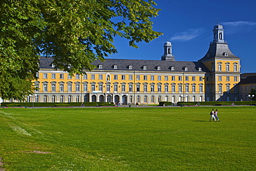 Main Building, Rhenish Friedrich Wilhelm University, a former palace of the Elector of Cologne, Bonn, North Rhine-Westphalia, Germany, Europe