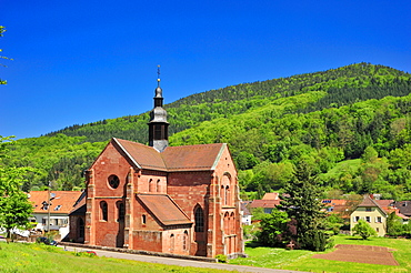 Church of the Cistercian Abbey, Eusserthal, Naturpark Pfaelzerwald nature reserve, Palatinate, Rhineland-Palatinate, Germany, Europe
