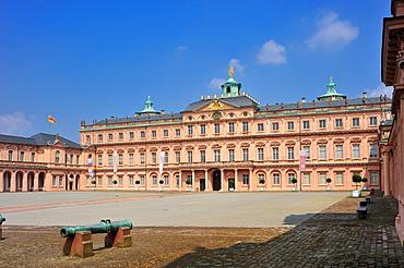 Schloss Rastatt castle seen from the courtyard, Rastatt, Black Forest, Baden-Wuerttemberg, Germany, Europe