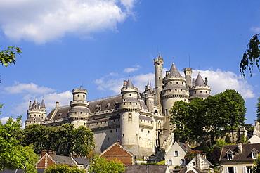 Pierrefonds Castle, Chateau de Pierrefonds, Picardy region, France, Europe