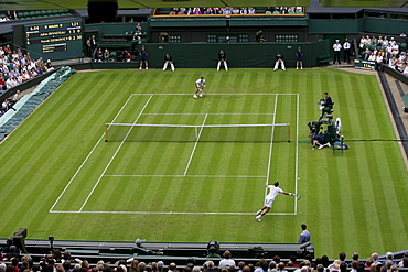 Tennis, ITF Grand Slam Tournament, Centre Court, overview, Wimbledon 2009, Britain, Europe
