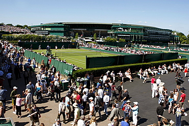 Venue from above, tennis, the ITF Grand Slam tournament, Wimbledon 2009, Britain, Europe