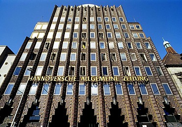 Anzeiger high-rise building, red-brick facade, expressionistic red-brick building, Steintor-Platz, Hanover, Lower Saxony, Germany, Europe