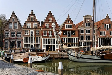 Harbour of Hoorn at the IJsselmeer, historic house fronts, Province of North Holland, Netherlands, Europe