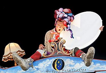 "Theater ""Die grosse Reise"" ""The Great Journey"", ExtraSchicht 2009 festival, Kohlenmischhalle, disused mine Zeche Lohberg, Dinslaken, Ruhrgebiet region, North Rhine-Westphalia, Germany, Europe"