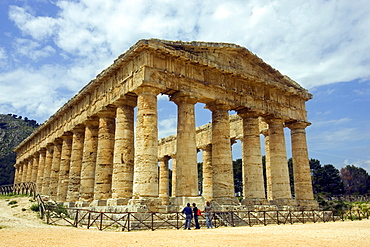 Ancient Greek Doric temple, Segesta, archaeological site, Sicily, Italy