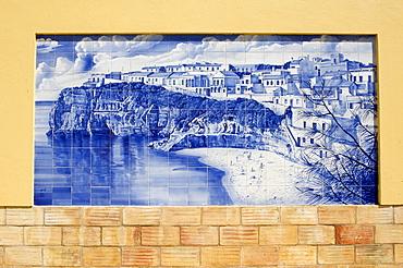 Azulejos in Faro, Algarve, Portugal, Europe