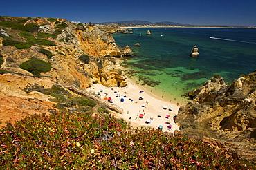 Praia do Camilo near Lagos, Algarve, Portugal, Europe