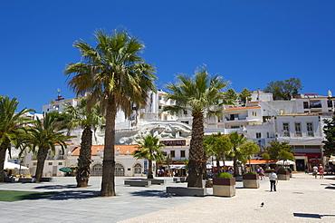 Square in Albufeira, Algarve, Portugal, Europe