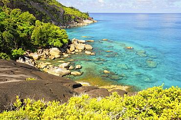 Coastal area, Northwest coast of Mahe Island, Seychelles, Africa, Indian Ocean