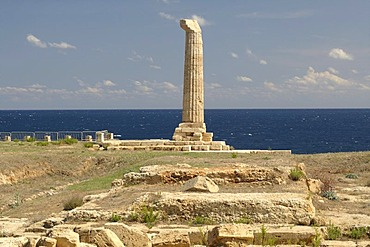 Column of the Temple of Hera Lacinia, Capo Colonna, Calabria, Italy, Europe