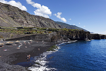 "Playa de Charco Verde, ""Paisaje protegido del Remo"" Nature Reserve, La Palma, Canary Islands, Spain, Europe"