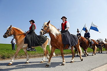 Georgiritt, George's Ride, Easter Monday procession, Traunstein, Chiemgau, Upper Bavaria, Bavaria, Germany, Europe