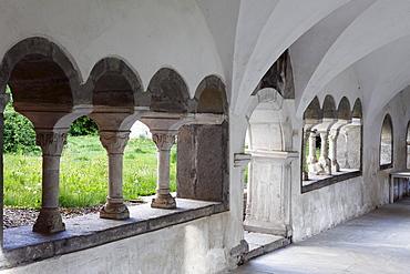 Cloister, Stift Millstatt convent, Carinthia, Austria, Europe
