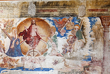 Fresco of the last judgement in the collegiate church, Stift Millstatt convent, Carinthia, Austria, Europe