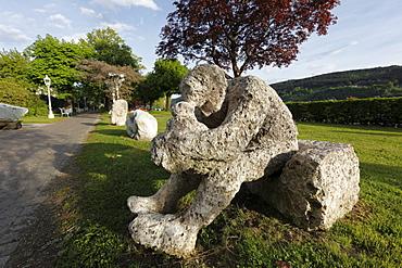 Sculpture in the Schillerpark Park, Millstaetter See, Millstatt Lake, Millstatt, Carinthia, Austria, Europe