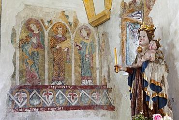 Frescoes in the Rosary Church, Maria Woerth at Woerthersee lake, Carinthia, Austria, Europe