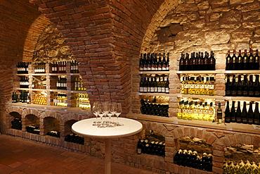 Vinotheque wine cellar in the Schloss Mailberg castle, Weinviertel region, Lower Austria, Austria, Europe