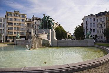 Fountain on the Lambermontplaats, Antwerp, Belgium
