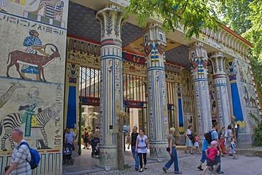 Egyptian temple, Antwerp Zoo, Antwerp, Belgium