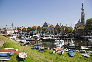 Veere Stadhuis, City Hall, and port, Zeeland, Netherlands