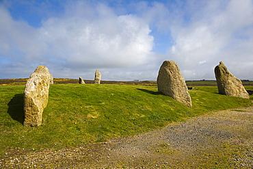 Stone circle at Land's End, Penn an Wlas, Cornwall, England, United Kingdom, Europe
