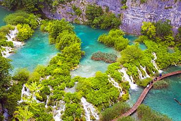 Plitvicka Jezera, Plitvice Lakes National Park, Lika-Senj, Croatia, Europe