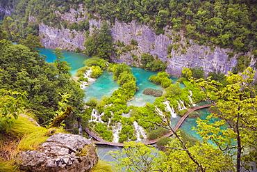 Waterfalls, Plitvicka Jezera, Plitvice Lakes National Park, Lika-Senj, Croatia, Europe