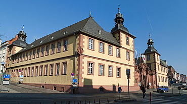 Schoenborner Hof, Scientific Museum, Aschaffenburg, Lower Franconia, Bavaria, Germany, Europe