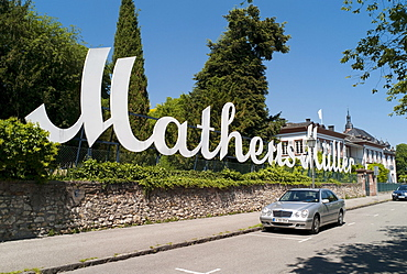 Production site Matheus Mueller GmbH champagne producer, part of Rotkaeppchen-Mumm champagne producer, Eltville, Hesse, Germany, Europe