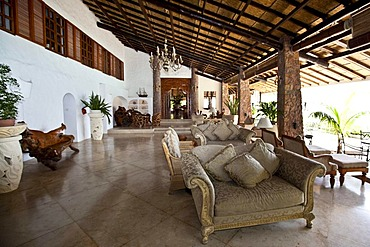Lobby in the Sunset Beach Resort, Glacis, Mahe Island, Seychelles, Indian Ocean, Africa