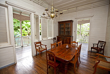 Old colonial house, Mahe Island, Seychelles, Indian Ocean, Africa