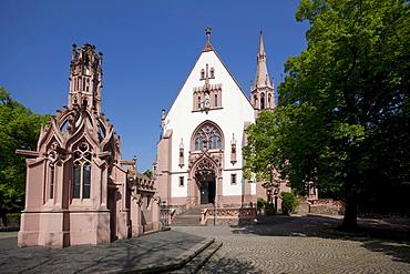 The chapel Rochuskapelle, mountain Rochusberg, Bingen, Rhineland-Palatinate, Germany, Europe
