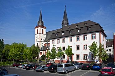St. Martin's basilica, Bingen, Rhineland-Palatinate, Germany, Europe