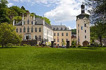 Schloss Sayn castle at the foot of the castle hill and at the entrance of Sayn, a quarter of Bendorf, district of Mayen-Koblenz, Rhineland-Palatinate, Dutschland, Europe