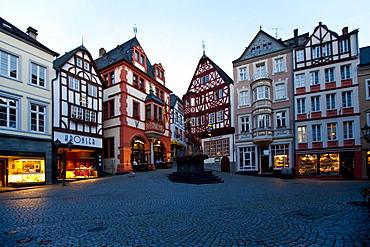 The historic Bernkastel marketplace, Bernkastel-Kues, Mosel river, Rhineland-Palatinate, Germany, Europe