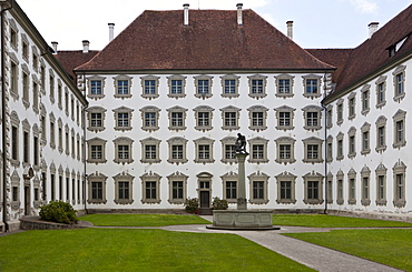Novizengarten novices' garden of the Reichsabtei Salem abbey, monastery of the Cistercian order, southwest German Rococo, seat of the Internat Schloss Salem residential school, Linzgau, Baden-Wuerttemberg, Germany, Europe