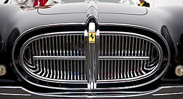 Grille of an old Ferrari, Oldtimer Grand Prix, Nuerburgring, Rhineland-Palatinate, Germany, Europe