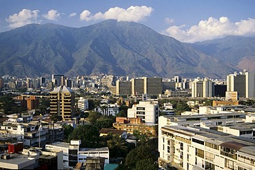 View from Las Mercedes on the El Avila mountain range, capital Caracas, Venezuela, Caribbean Sea, South America