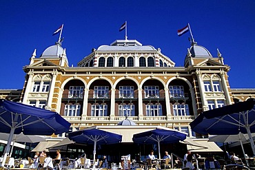 Steigenberger Kurhaus Hotel, a luxury hotel on the promenade of Scheveningen, a sophisticated seaside resort neighbouring Den Haag on the Dutch North Sea coast, province of South Holland, Zuid Holland, the Netherlands, Europe