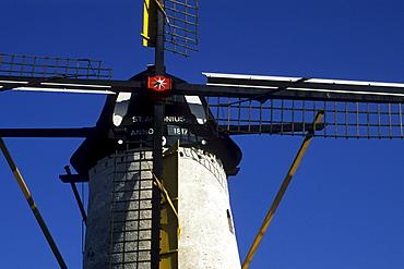 Sint Antonius Molen, windmill from 1817, Halsteren, Bergen op Zoom, Province of North Brabant, Noord-Brabant, Netherlands, Benelux, Europe