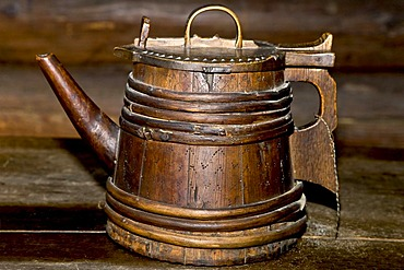 Old wooden jug